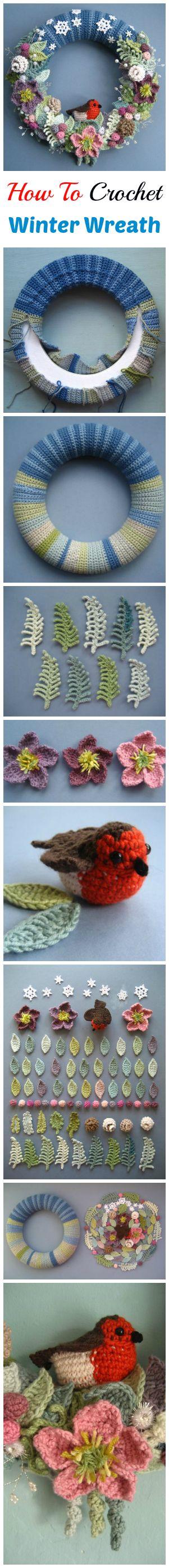 Crochet Beautiful Winter Wreath