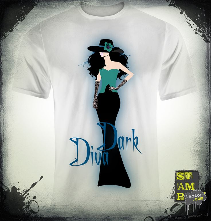 Dark Diva (Version 06) 2014 Collection - © stampfactor.com *T-SHIRT PREVIEW*