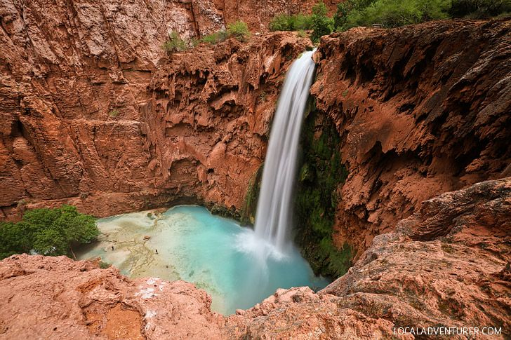Mooney Falls - The tallest waterfall in Havasu Canyon at 210 ft tall // localadventurer.com