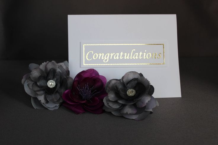 White Congratulations Cards With Gold Foil by DazzlingCreationsCA on Etsy