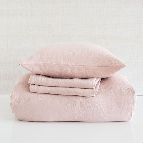 Linnen lakens en slopen kleur roze - Lakens en Hoezen - Bed | Zara Home België