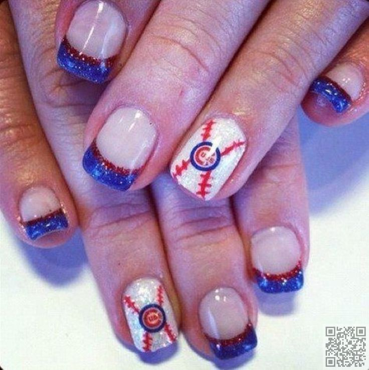 13. #Chicago Cubs - 36 Sports Nail Art Ideas That Will Make You #Ready… #Ideas