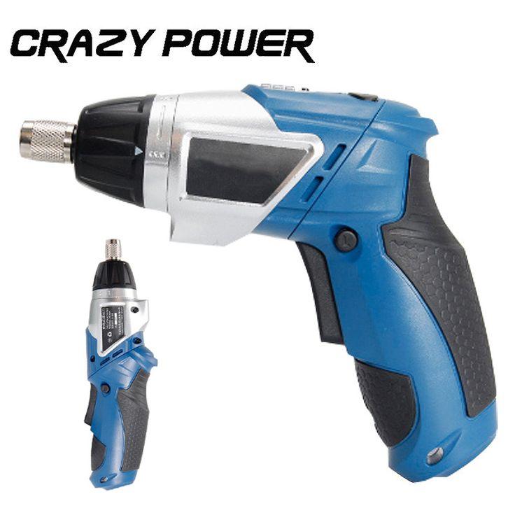 Crazy Power Electric Screwdriver Cordless 3.6v lithium battery Rechargeable  Electric Screwdriver Parafusadeira Furadeira blue