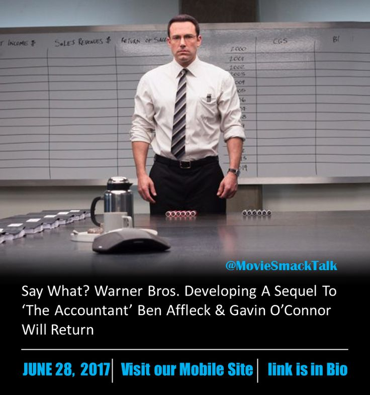 Say What? Warner Bros. Developing A Sequel To 'The Accountant' Ben Affleck & Gavin O'Connor Will Return