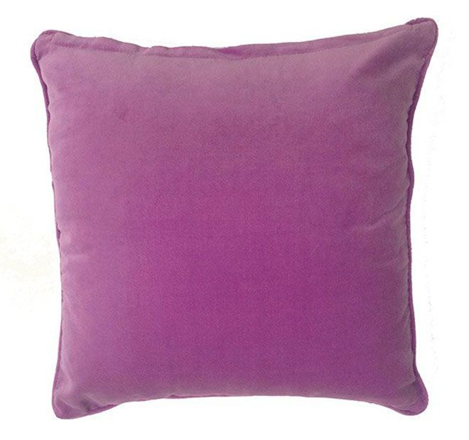Lilly and Lolly Velour 40x40cm Filled Cushion Violet