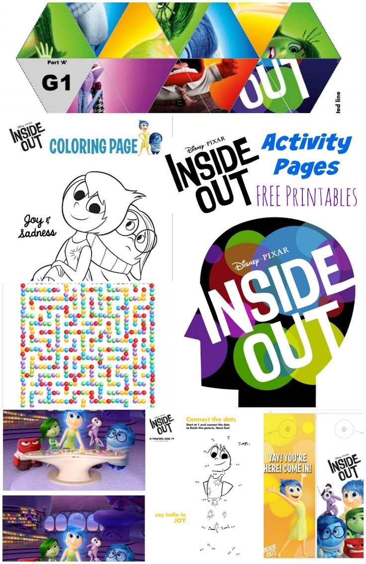 Disney • Pixar's Inside Out Activity Pages