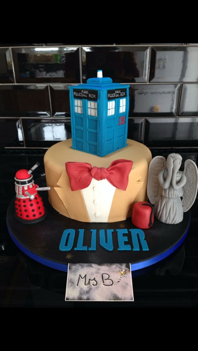 Dr Who Tardis, Dalek, Weeping Angel and Fez with a nod to Matt Smith (and his…