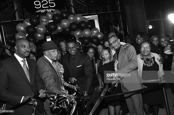 This image was converted to black and white Kwanza Hall Kasim Reed Tameka 'Tiny' Harris and...