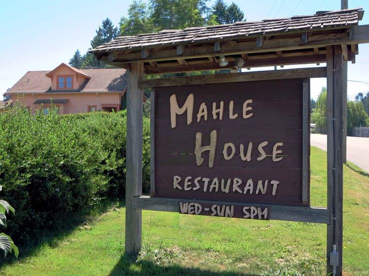 The Mahle House Restaurant in Cedar, British Columbia, Canada, serves gourmet dinners.