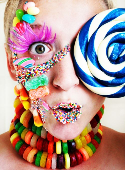 Candy face.