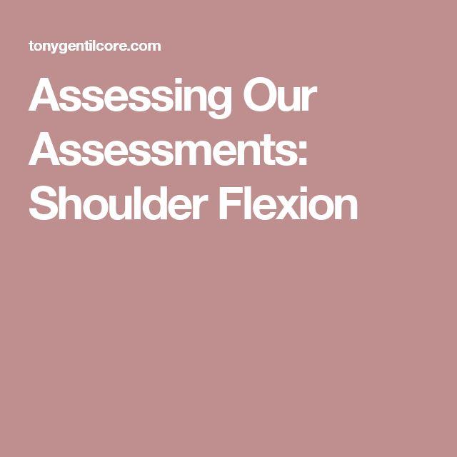 Assessing Our Assessments: Shoulder Flexion