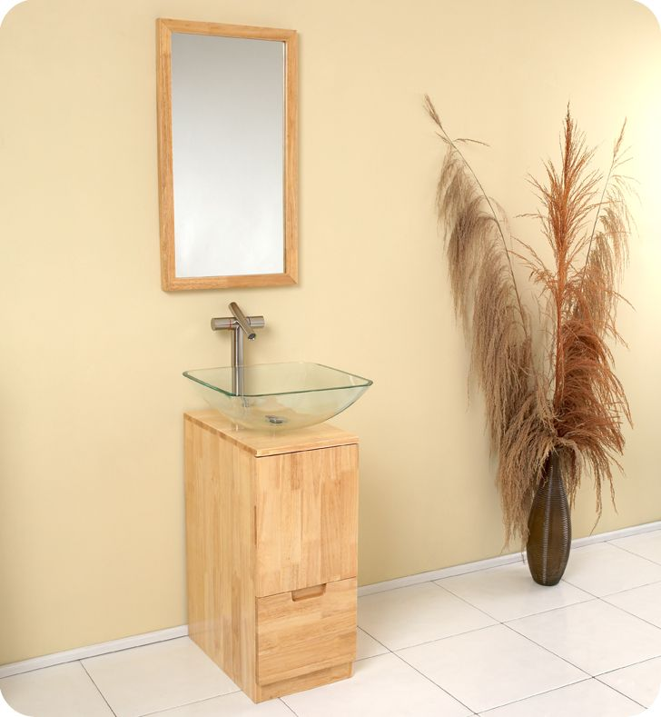 10 best small bathroom vanities images on pinterest bath for Bathroom cabinets natural wood