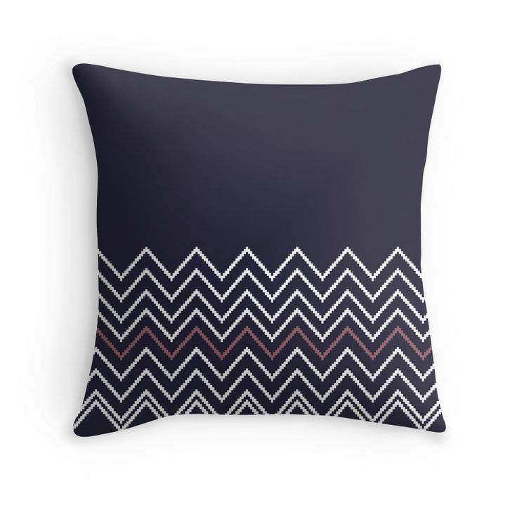 Selling Exclusive Artistic Pillow with Extraordinary Stripes Edition. Hand Drawn Original Artwork.  Exclusive 2016 Summer Fashion Collection  Colors: blue, purple, white  Artist / Shop Owner contact: https://about.me/janaguothova