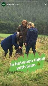 New BTS pic of Sam Heughan for Barbour photoshoot | Outlander Online