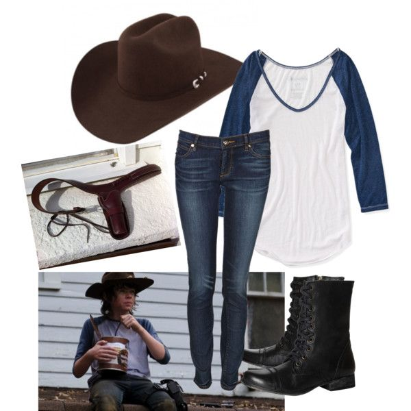 Carl Grimes ComicCon Cosplay by hannahmarie4300 on Polyvore featuring Aéropostale, Juicy Couture, Steve Madden and Episode