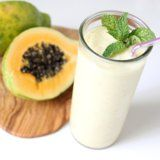 Papaya Mint Ginger Smoothie Recipe