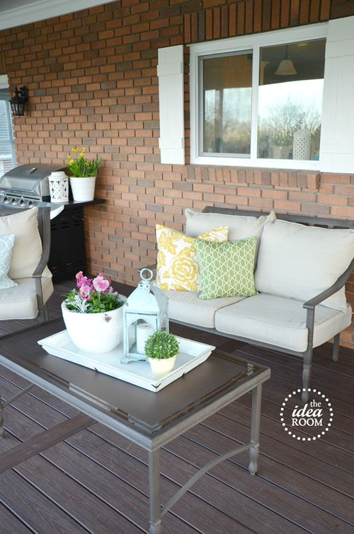 Patio furniture / deck @Amy Huntley (The Idea Room)