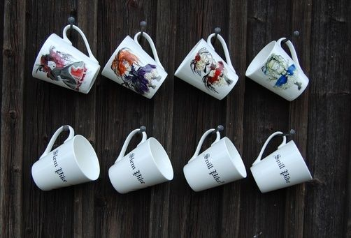 ,, Snill pike ,, mugs by Anna Strøm. rebel design http://www.design-of-norway.no/ www.snillpike.no