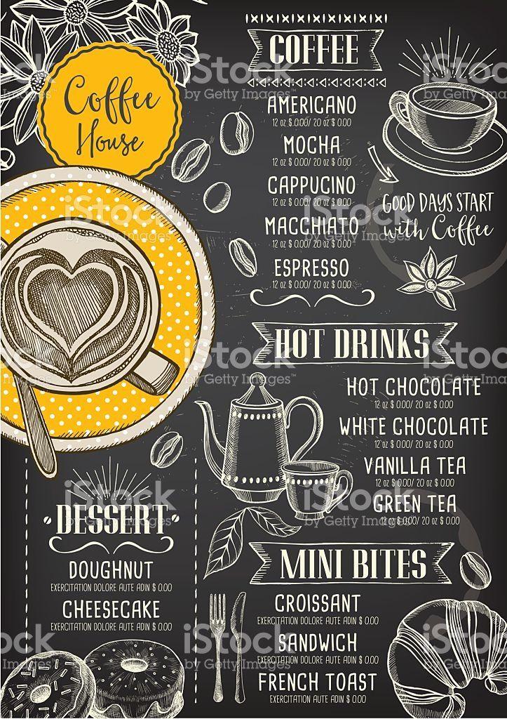 Coffee cafe menu, template design. royalty-free stock vector art