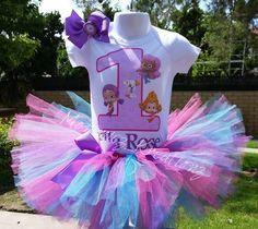 Bubble Guppies tutu set, Guppies birthday outfit | Mommiez_Kreationz - Clothing on ArtFire