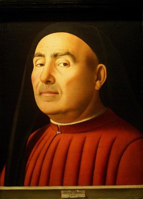 """Torino, Palazzo Madama, Bildnis eines Mannes """"Ritratto Trivulzio"""", Antonello da Messina, 1476 (Portrait of a man """"Ritratto Trivulzio"""")"""
