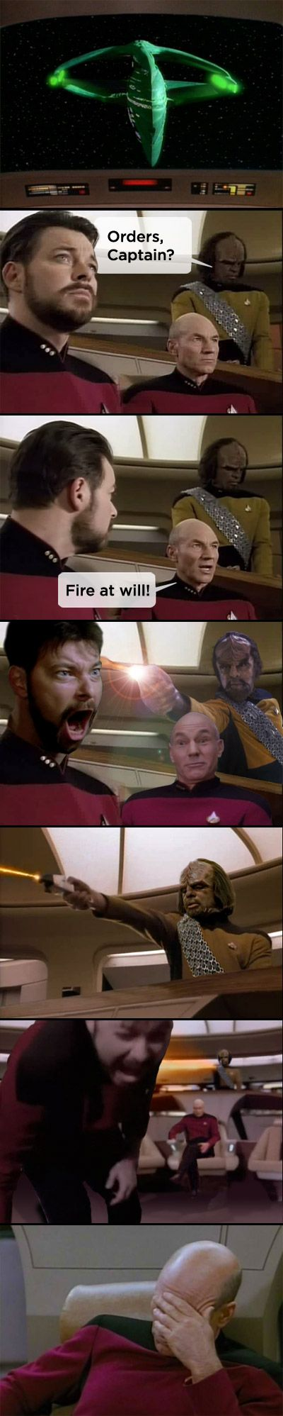 Fire at Will! Hahahaha. Poor Will. :P