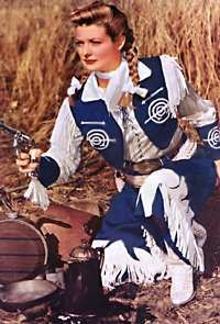 """TV Western - Annie Oakley - Gail Davis.  I had (and still have) big time """"blue cowgirl outfit"""" envy!"""