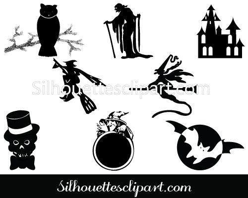 Halloween Silhouette Clip Art Download Halloween Vectors