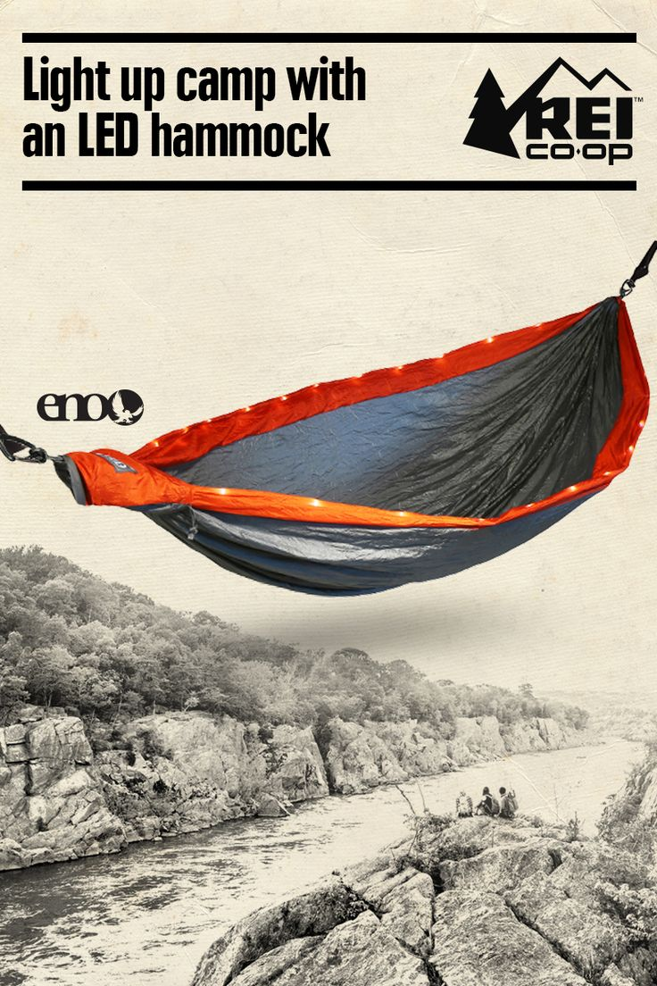 Light up camp with the integrated lights of the ENO LED DoubleNest Hammock. It's compact enough for backpacking, robust enough for backyard luxury and sets up in seconds with plenty of room for 2. Shop now.