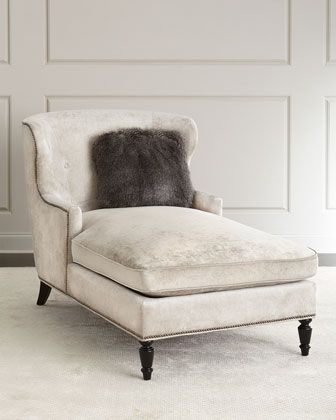 Lane+Chaise+by+Bernhardt+at+Horchow. $1699 master Bernhardt Lane Chaise Grey/Silver