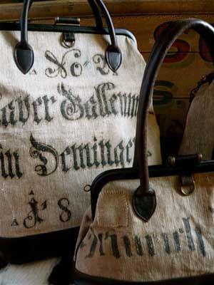 German flour sack bags: Grains Sacks, Design Handbags, Burberry Handbags, Totes Bags, Tamara Fogl, Feeding Sacks, Flour Sacks, Fashion Handbags, While