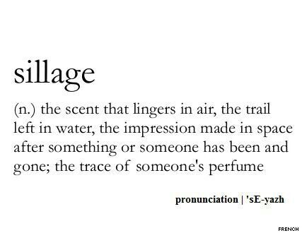 Sillage #WordPorn