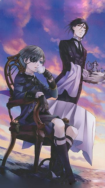 Ciel Phantomhive and Sebastian  - Black Butler
