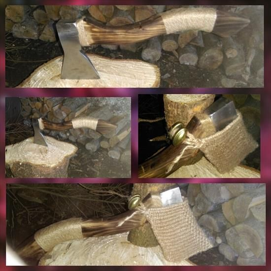 My first hand made axe. I am satisfied with the effect. The next will be a knife, maybe Karambit :)