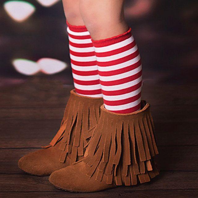 Girls Rainbow Knee High Socks with Non-Skid Bottom 3 Classic // 3 Neon Rainbow