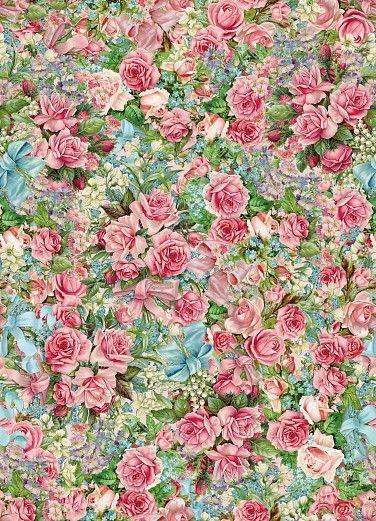 Designtapete mit einem klassischen Rosenmuster. Das Blumenmeer weckt nostalgische Erinnerungen an den Duft von Rosen und das frühlingshafte Erwachen der Natur. Die Tapete der Designerin Barbara Behr gibt dem Raum eine natürliche Note und lädt zum romantischen Schwärmen ein. #wallpaper