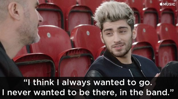 Zayn Malik has said he never wanted to be in One Direction in the first place in an interview with Zane Lowe to be broadcast on Beats 1 later today.