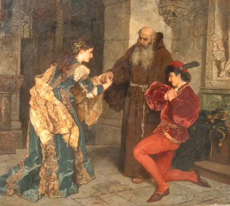 Romeo and Juliet before Father Lawrence, Karl Ludwig Friedrich Becker