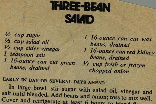 Three Bean Salad | From my mom's recipe collection. | Phil! Gold | Flickr