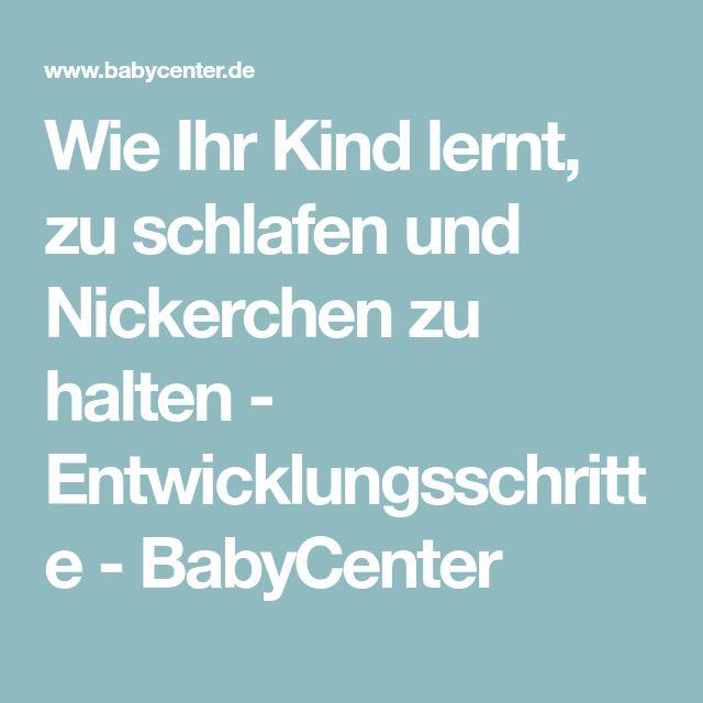 Wie Ihr Kind lernt, zu schlafen und Nickerchen zu halten - Entwicklungsschritte - BabyCenter
