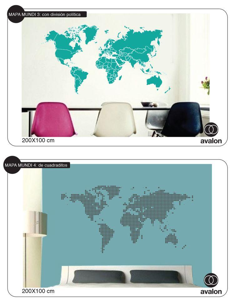 Vinilo decorativo autoadhesivo mapa mundi 510 00 en - Vinilos mapa mundi ...