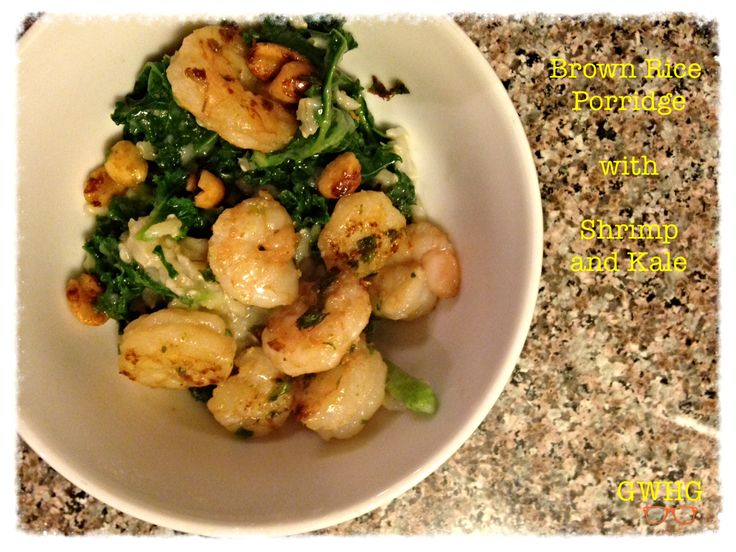 Brown Rice Porridge with Shrimp and Kale (Inspired by Lunar New Year cuisine)