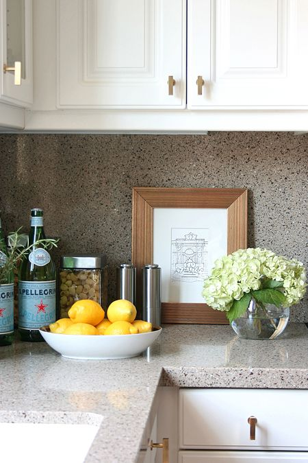 Styled kitchen counter