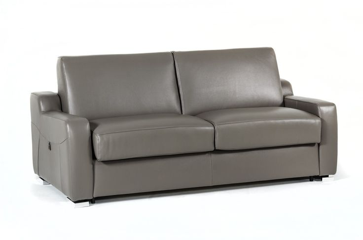 Estro Salotto Dalia Modern Grey Leather Sofa Bed