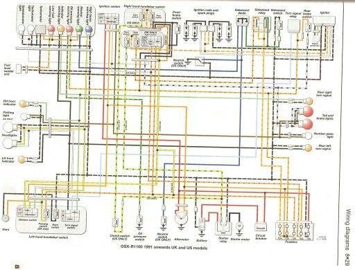 Wiring diagram | 1998 GSXR750 | Diagram, Wire, Floor plans