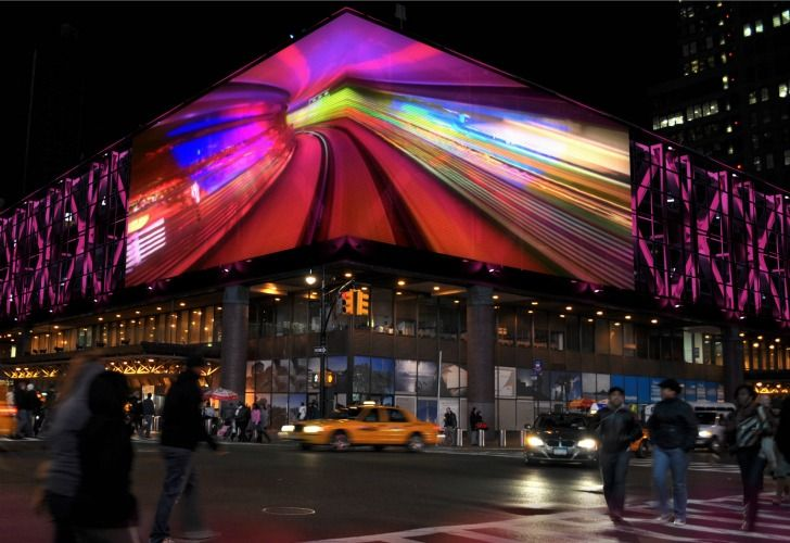 NYC Port Authority Bus Terminal Now Boasts World's Largest LED Media Facade