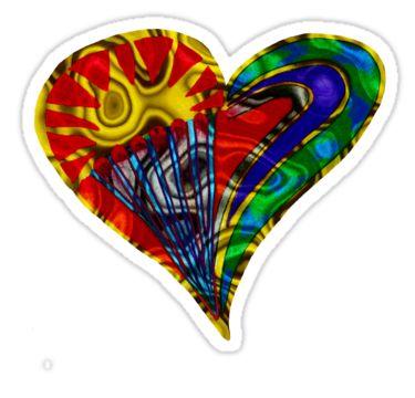 Swirly Heart Sticker by StickerNuts