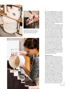 Next page of reportage Kirstie van Noort for Seasons magazine, Photographer Bart Brussee, styling Linda van der Ham