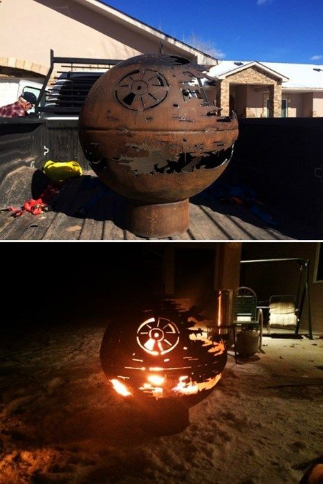 Star Wars Death Star Fire Pit Part - 31: Grandpa Makes A Death Star Fire Pit For His Grand Kids