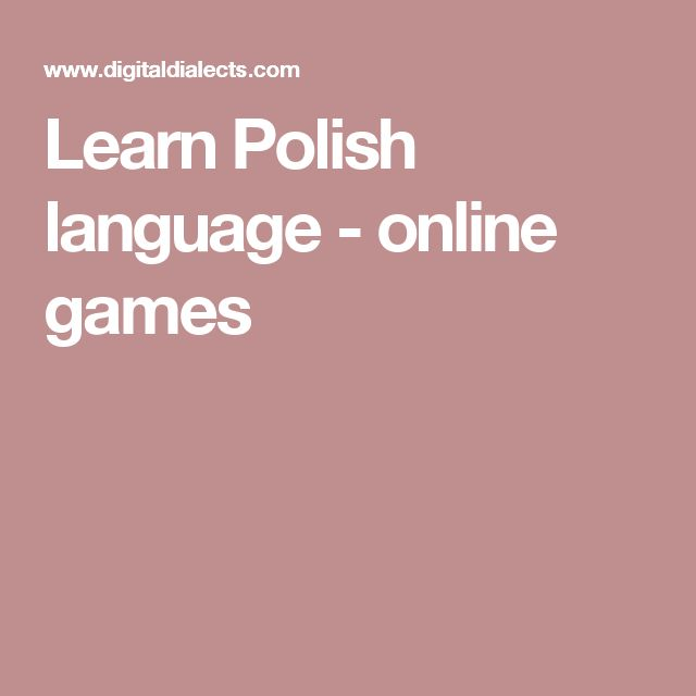 Learn Polish language - online games